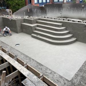 Construction de piscine en béton