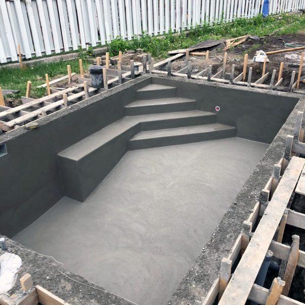 Fondation de béton projeté